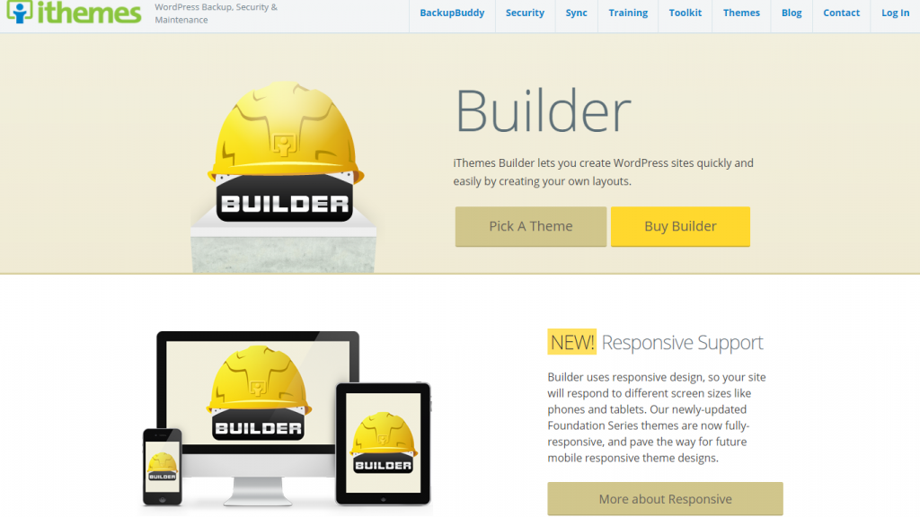 A screenshot of Builder - WordPress Theme Frameworks